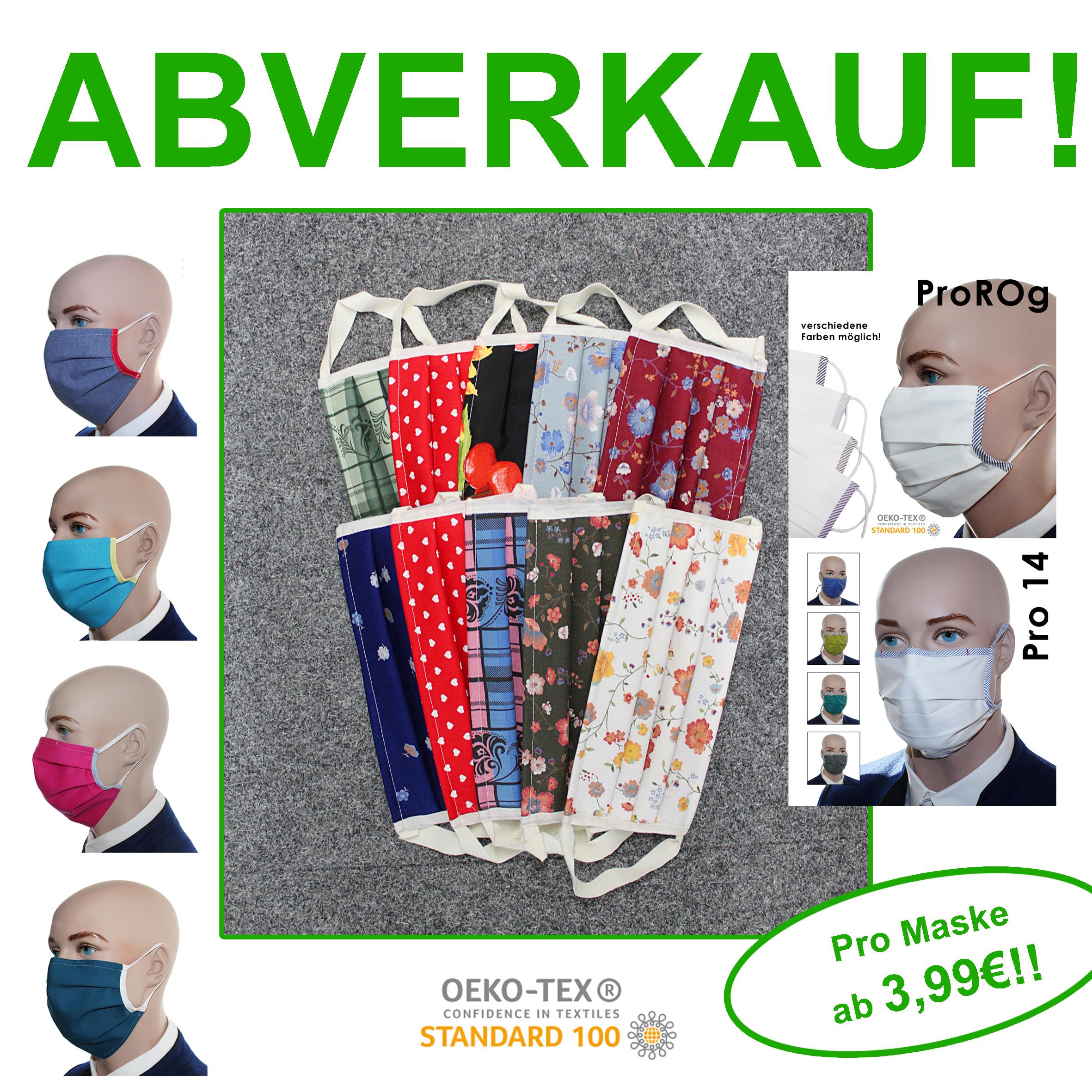 SONDERPOSTEN!!!! Mund-Nasen-Masken zum Aktionspreis!