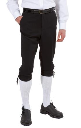 Herren-Kniebundhose aus Gewebe / Stoff, mit roter Kordel