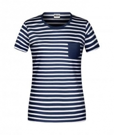 Hemdglunker Ringel-T-Shirt DAMEN, blau-weiss gestreift