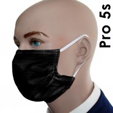 3er / 5er Pack  Pro05 schwarz (Baumwoll-Mischung)  Mund-Nasen-Masken
