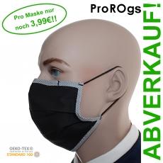 ProROg / 10er Pack, Baumwoll-Variante mit Gummiband - Mund-Nasen-Masken