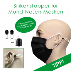 Silikonschieber / Kordelstopper 10 Stk. (5 Paar)