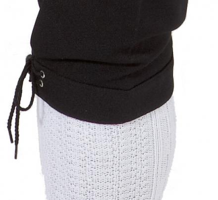 Herren-Kniebundhose aus Gewebe / Stoff, mit schwarzer Kordel