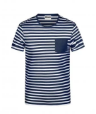 Hemdglunker Ringel-T-Shirt HERREN, blau-weiss gestreift