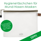Reißverschlusstasche für Mund-Nasen-Masken für hygienische Aufbewahrung