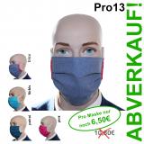 Pro13 / 10er Pack farbige Baumwoll-Varianten -  Mund-Nasen-Masken