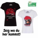 Black-Forest T-Shirt für Damen in schwarz oder weiß