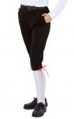 Kinder-Kniebundhose schwarz aus  Gewebe / Stoff, mit roter Kordel